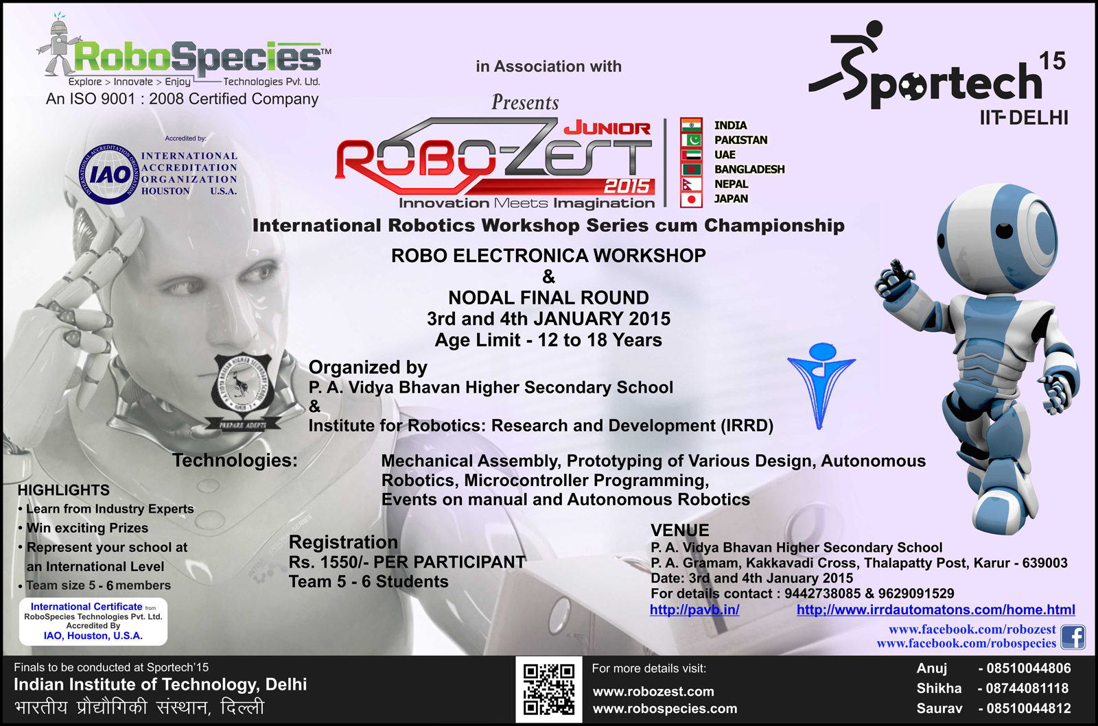 Events Institute For Robotics Research And Development
